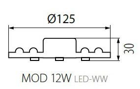 Kanlux LED Modul do stropných svietidiel 12W/1020lm, neutrálna biela
