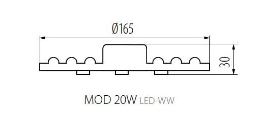 Kanlux LED Modul do stropných svietidiel 20W/1700lm, neutrálna biela